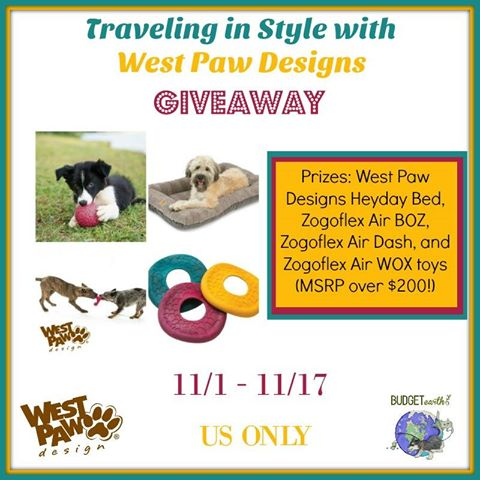 Traveling in Style With West Paw Designs Giveaway